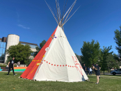 A Blackfoot home in the middle of campus: Teepee raised at University of Calgary