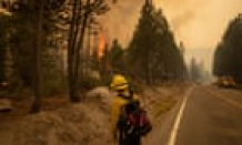 Firefighters in regain-or-destroy fight to keep Caldor fire from Lake Tahoe