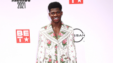 Lil Nas X Jokingly Finds He's Pregnant With Prosthetic Dinky one Bump — Photos & Video
