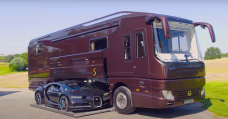 There's A Bugatti Chiron Staunch Chilling In This €2 Million Motorhome