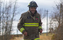 Firefighter hoping to set new record at Calgary Marathon running in full gear