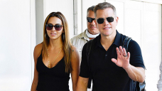 Matt Damon's Wife Luciana Barroso Sizzles In Dark Tank Prime As They Defend Fingers Leaving Venice