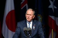 Historic President Bush likens U.S. extremists to foreign terrorists