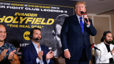Idea: Susceptible President Donald Trump (mostly) sticks to sports while providing boxing commentary