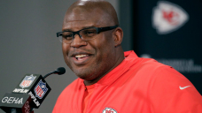 Eric Bieniemy on USC head-educating candidacy: 'I am focused on the task at hand'