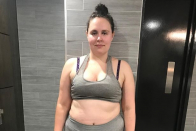 Woman who ate four burgers and four curries a day loses seven stone in lockdown