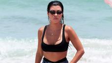 Kourtney Kardashian Goes Bike Riding In A Bikini & Travis Barker Is Here For It — Photos