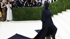 Kim Kardashian's Met Gala Ponytail Stare Reportedly Rate $10K — Pictures