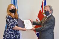 The new British Ambassador to Argentina presented her credentials