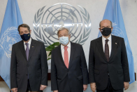 With lunch invite, UN chief tries to restart Cyprus talks