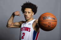 Cade Cunningham packed on over 10 pounds of muscle during summer