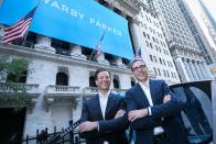Warby Parker opens at $54.05 per share in public debut on NYSE, soaring more than 30% above reference price