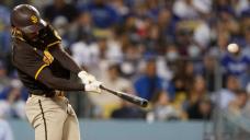 San Diego Padres' Fernando Tatis Jr. hits home run out of Dodger Stadium