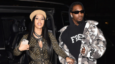 Cardi B Sizzles In Gold Sequin Catsuit & Denies She Got A Tummy Tuck After Giving Birth To Son