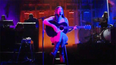 Kacey Musgraves Appears To Wear Just Her Guitar & Boots For Performance On 'SNL'