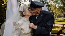 This Iowa couple said 'I do.' 77 years later, they had their wedding photos taken.