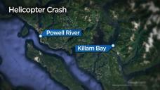 Logging helicopter crashes on B.C.'s Sunshine Coast