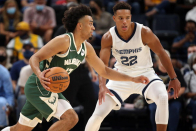 Fire alarm delays Bucks' preseason opener in Memphis after three quarters, players and fans evacuated