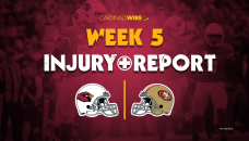 Cardinals injury report: 16 players appear on first Week 5 report