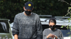 Ashton Kutcher & Mila Kunis Match In Gray Outfits As They Run Errands In L.A. — Photo