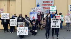 Protesters outside N.L. jail call for better care for prisoners after inmate suicide